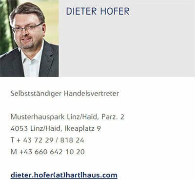Hartl Haus Fachberater Dieter Hofer